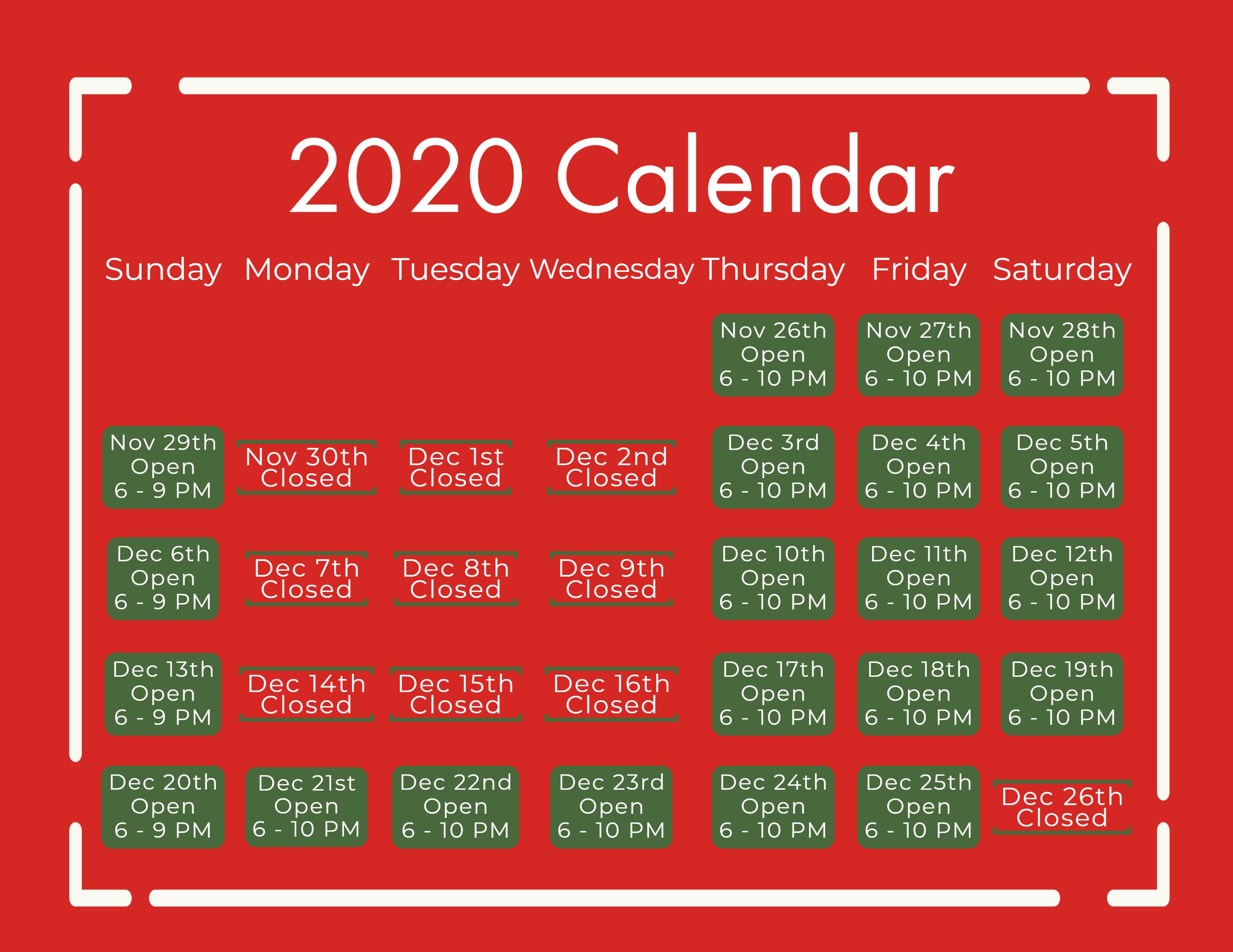 CLF Calendar 2020